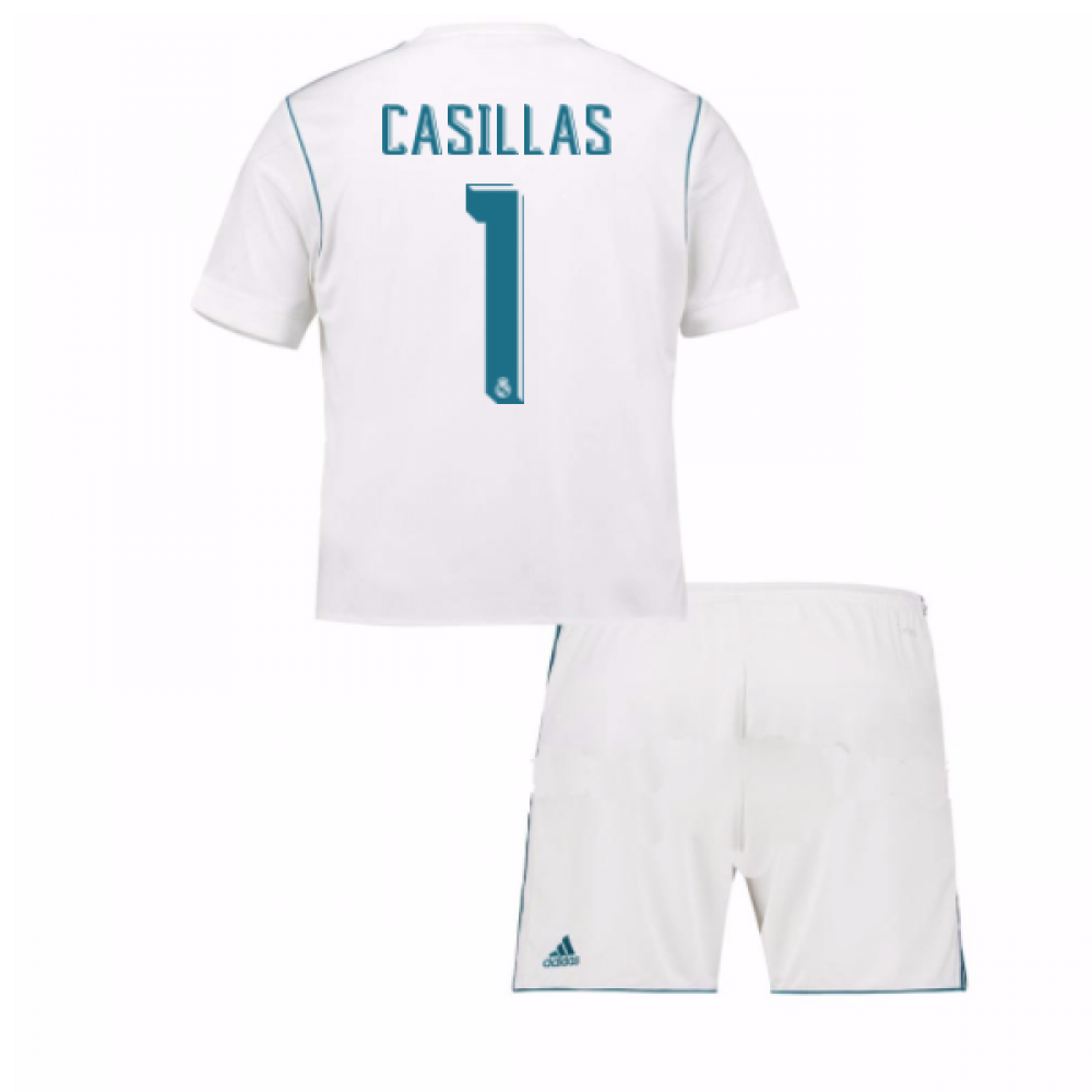 4a950635b 2017-18 Real Madrid Home Mini Kit (Casillas 1)  B31118-94992 ...