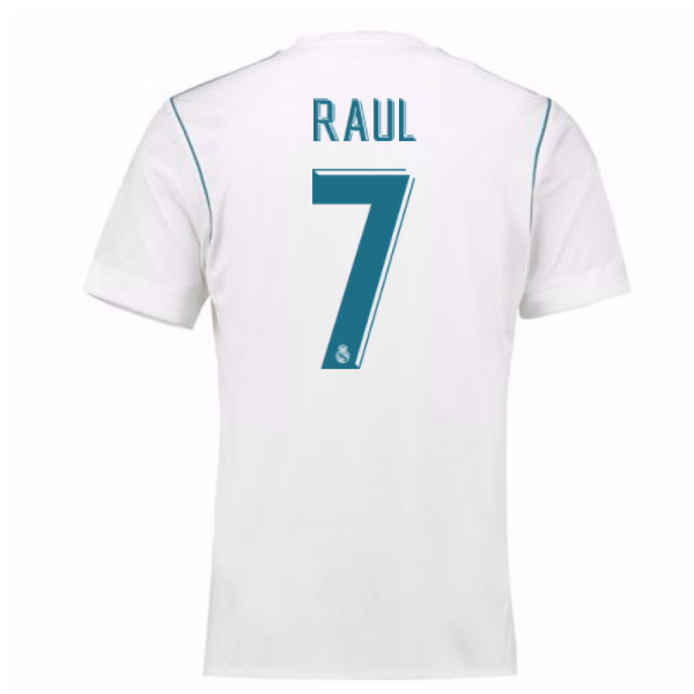 low priced 810cc 1e0cc 2017-18 Real Madrid Home Shirt - Kids (Raul 7)