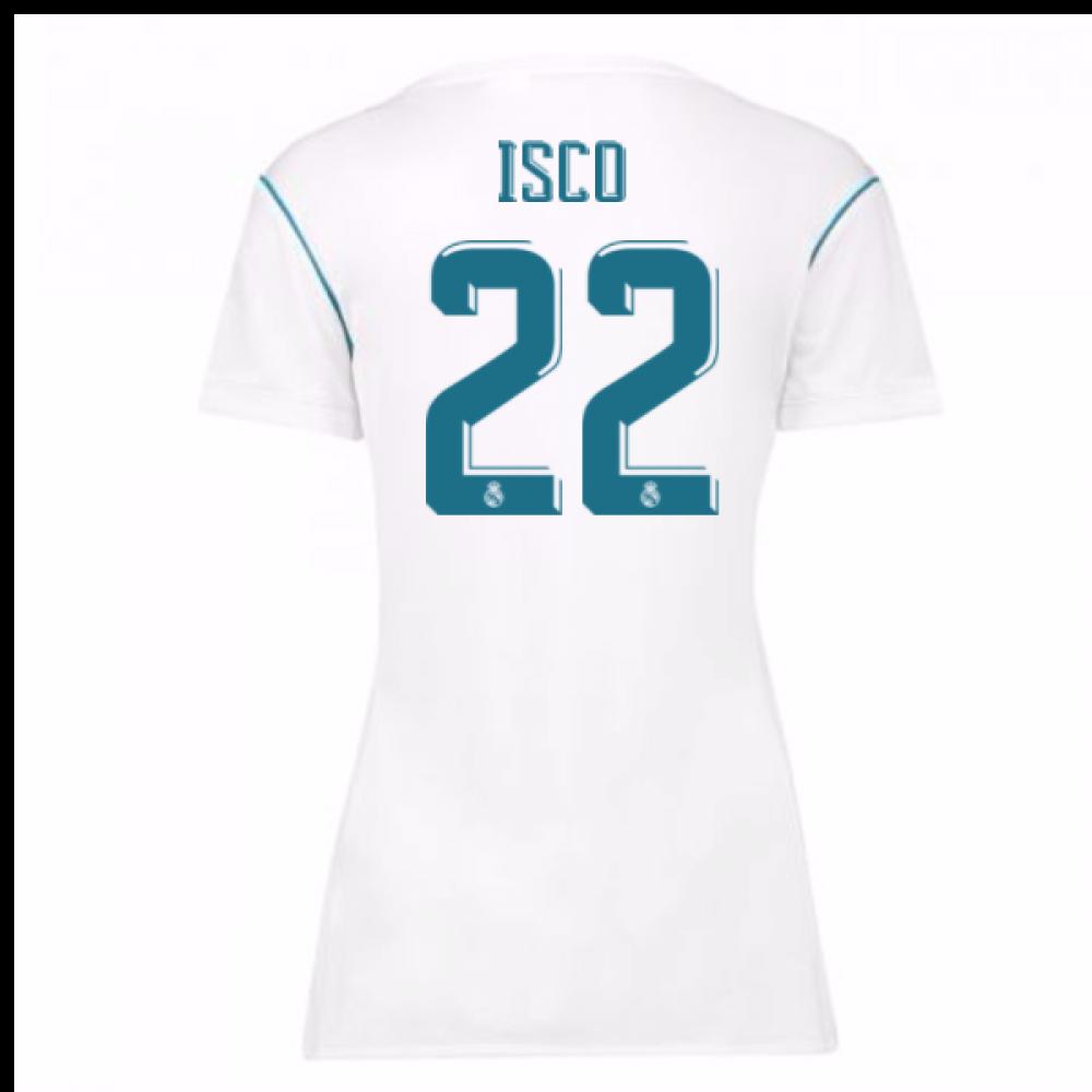 2017-18 Real Madrid Womens Home Shirt (Isco 22)  B31110 . 53ca31dc4