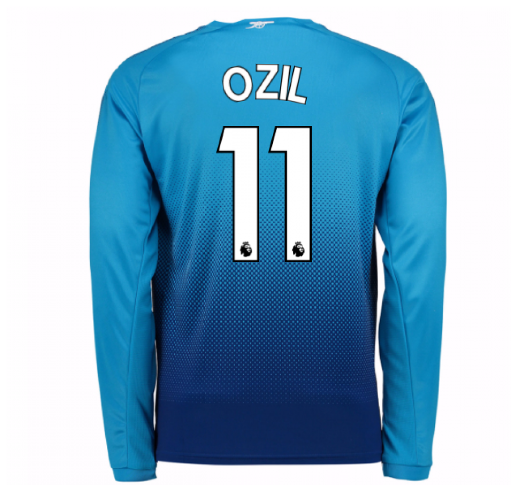 outlet store c4a61 86d7a 2017-2018 Arsenal Away Long Sleeve Shirt (Ozil 11) - Kids