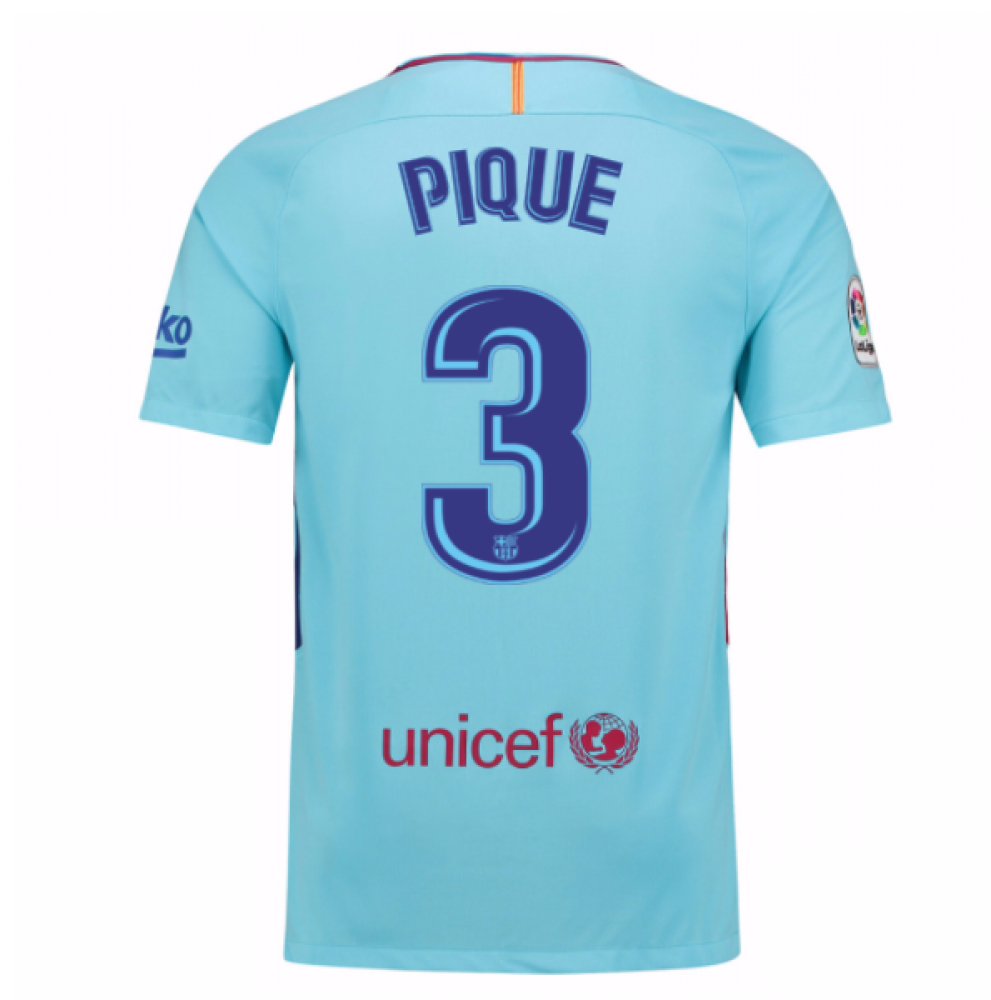 the latest dcdd0 64323 2017-2018 Barcelona Away Shirt (Pique 3)