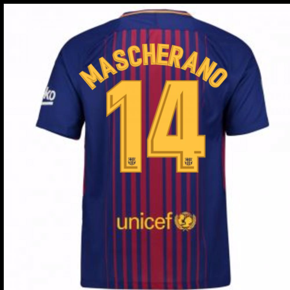 435d65df4a5 Womens Javier Mascherano Sky Blue FC Barcelona Jersey - 14 Nike Authentic  Short Shirt 17 2017-2018 Barcelona Home Shirt (Mascherano 14)  847255-456-93848 ...