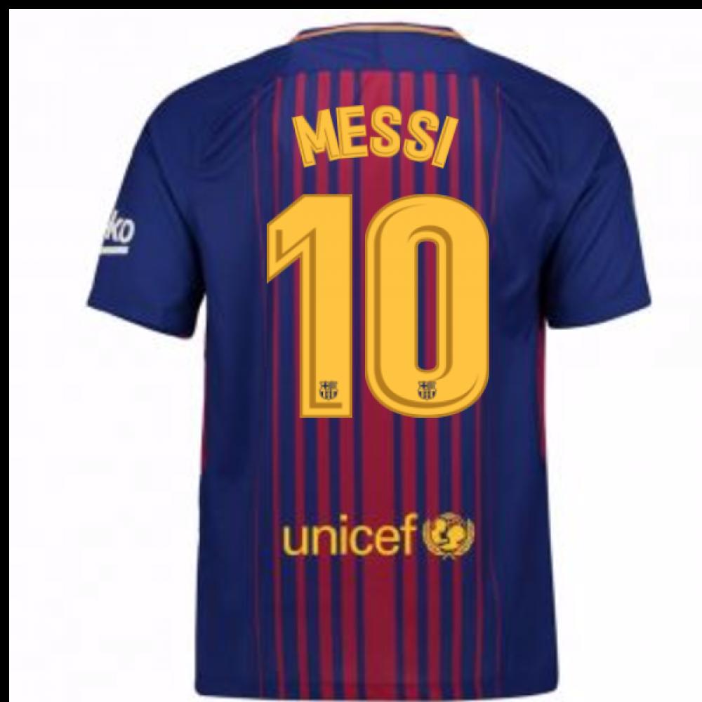 timeless design 4d01d 101f9 2017-2018 Barcelona Home Shirt (Messi 10) - Kids