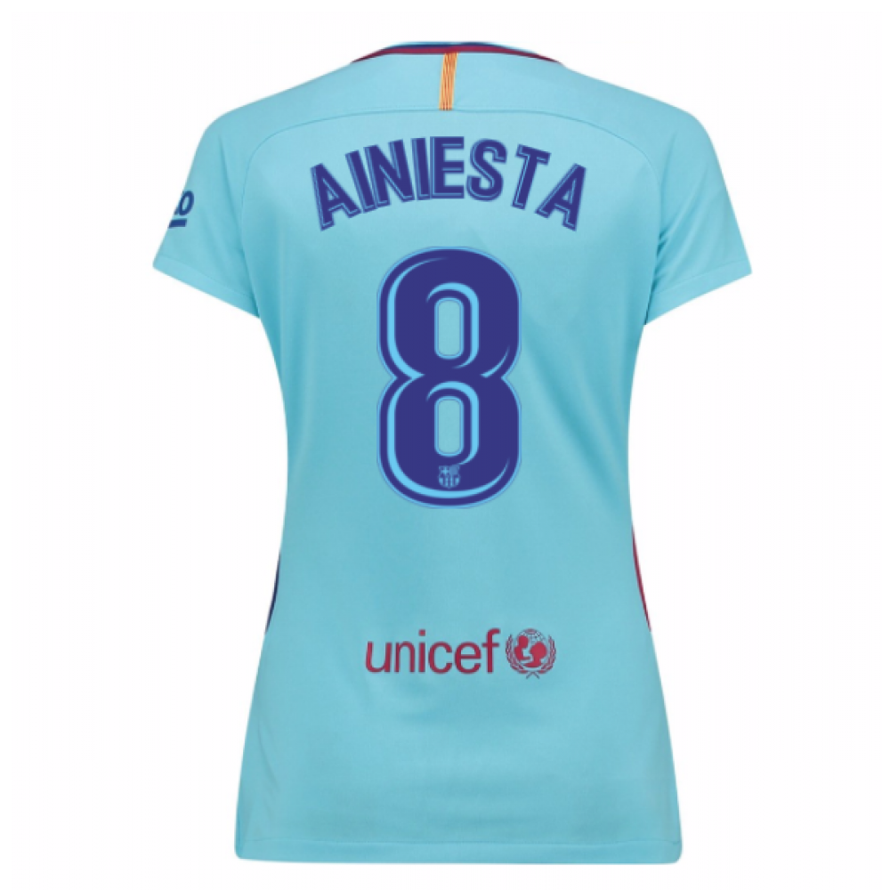 on sale 50b79 98e90 2017-2018 Barcelona Womens Away Shirt (A Iniesta 8)