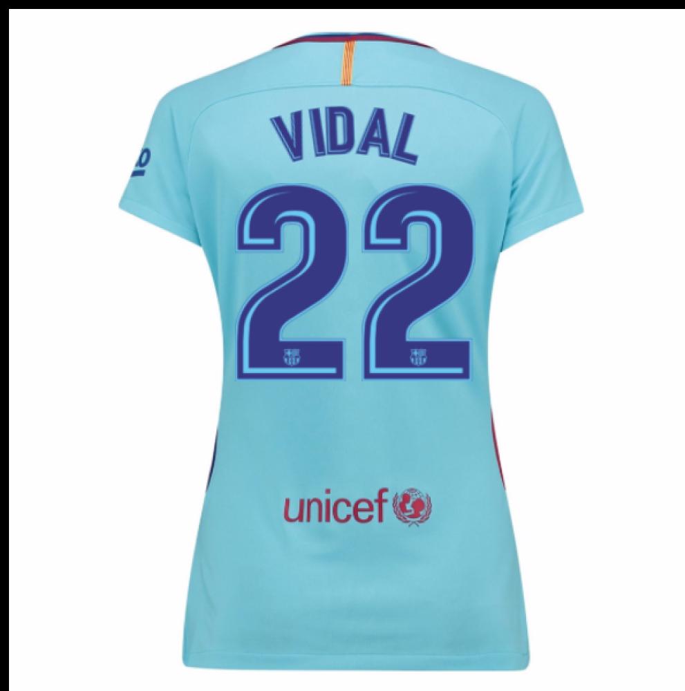 2017-2018 Barcelona Womens Away Shirt (Vidal 22)  847225-484-98103 ... f1b314999f
