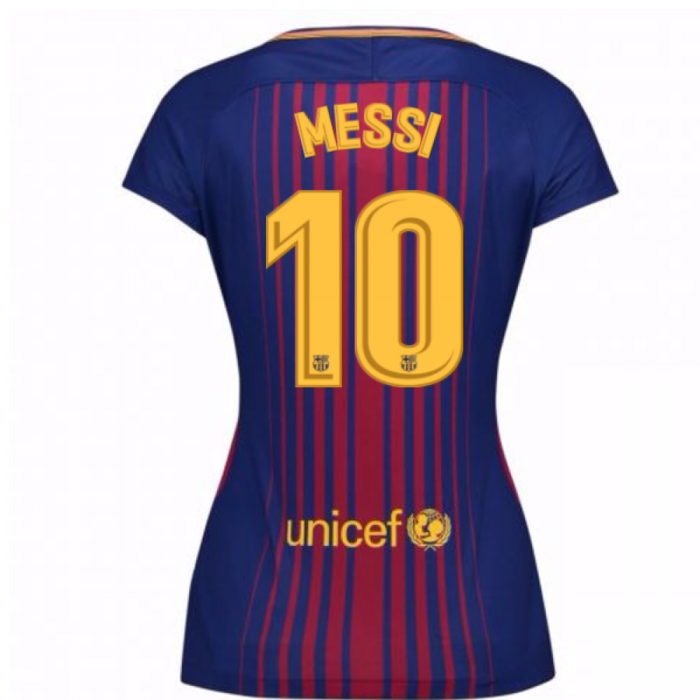 best service 77d3c ec8c0 2017-2018 Barcelona Womens Home Shirt (Messi 10)