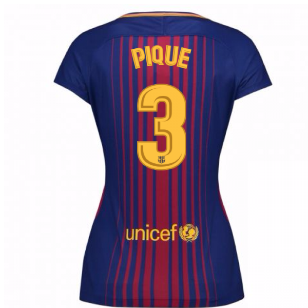wholesale dealer da64e 33e32 2017-2018 Barcelona Womens Home Shirt (Pique 3)
