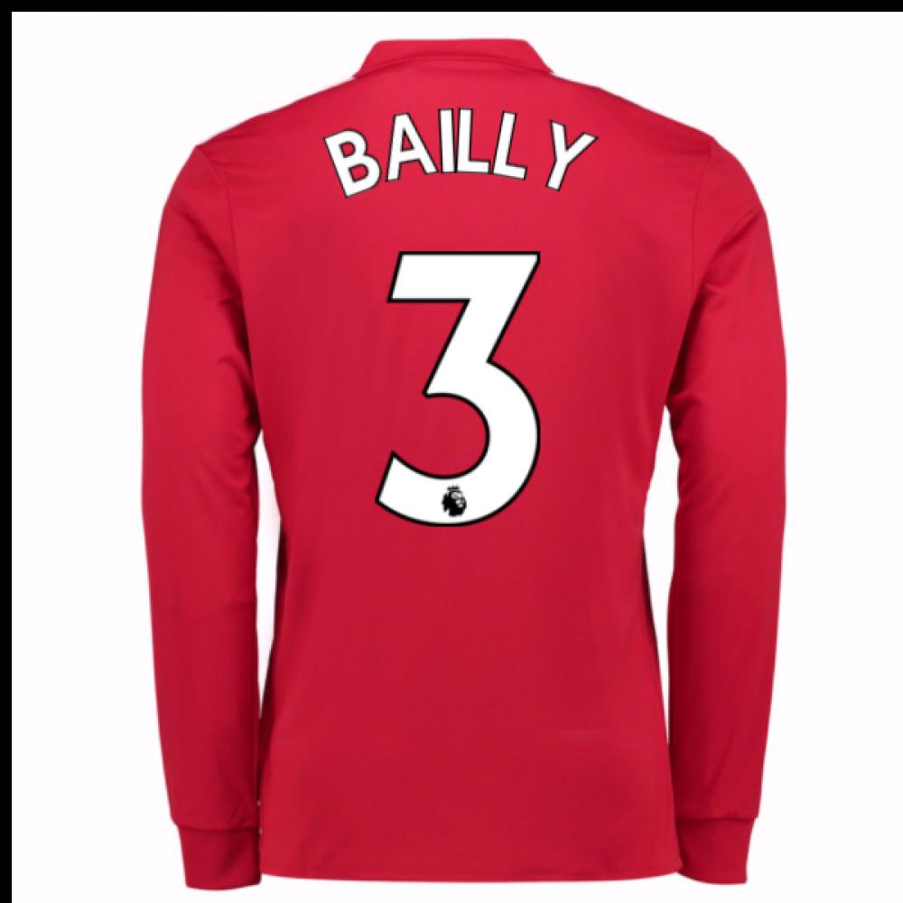 44fcbc664 2017-2018 Man United Long Sleeve Home Shirt (Bailly 3)  AZ7583-96518 ...