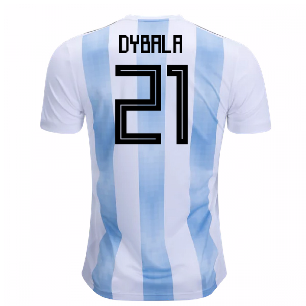 the latest be001 d3bac 2018-19 Argentina Home Shirt (Dybala 21) - Kids