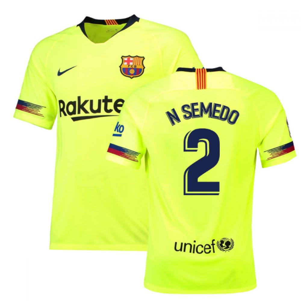 2018-19 Barcelona Away Shirt (N Semedo 2) - Kids
