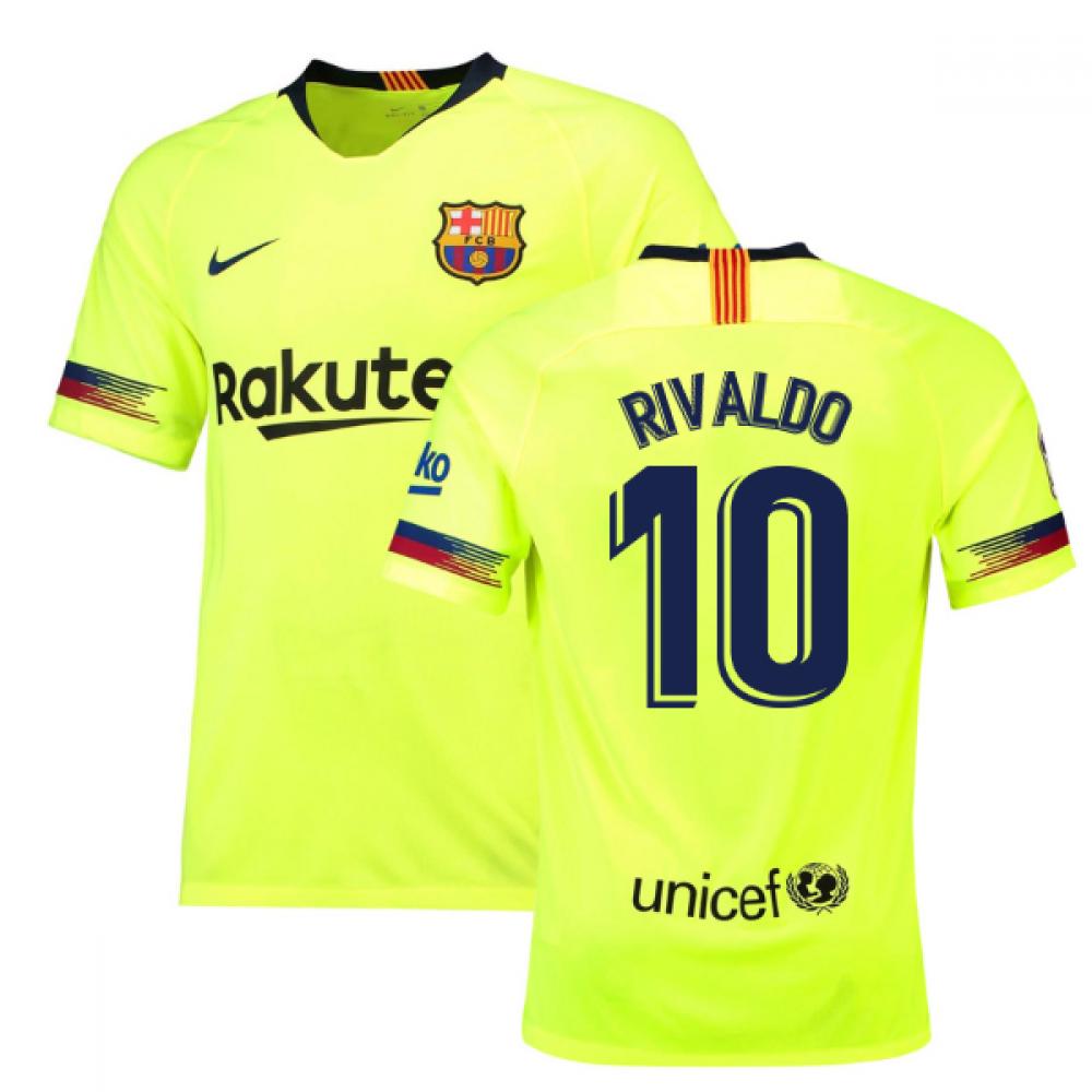 1b7fc49013e 2018-19 Barcelona Away Shirt (Rivaldo 10)  918990-703-125872 ...