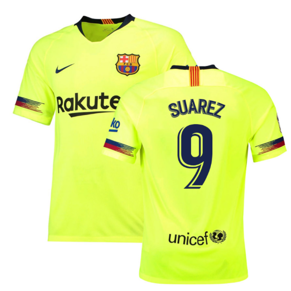 6e549741b31 2018-19 Barcelona Away Shirt (Suarez 9)