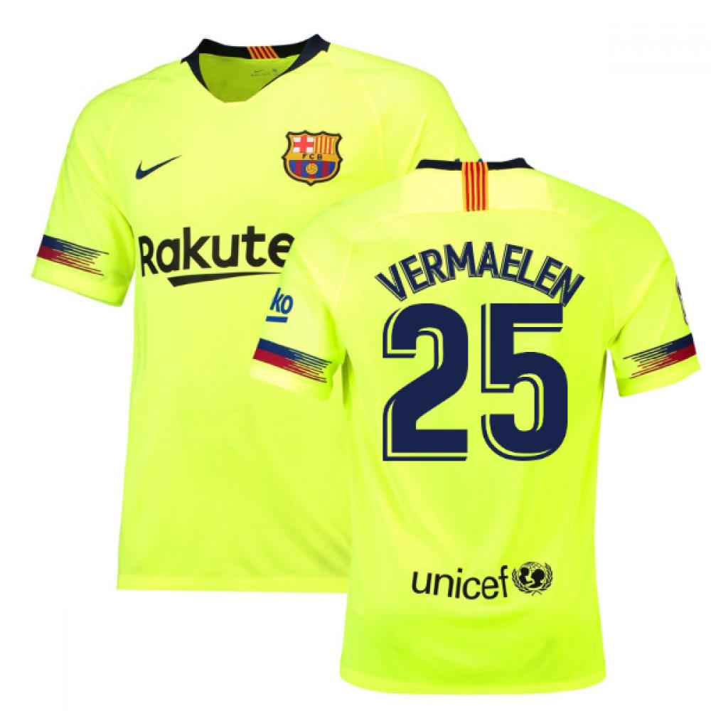 2018-19 Barcelona Away Shirt (Vermaelen 25) - Kids