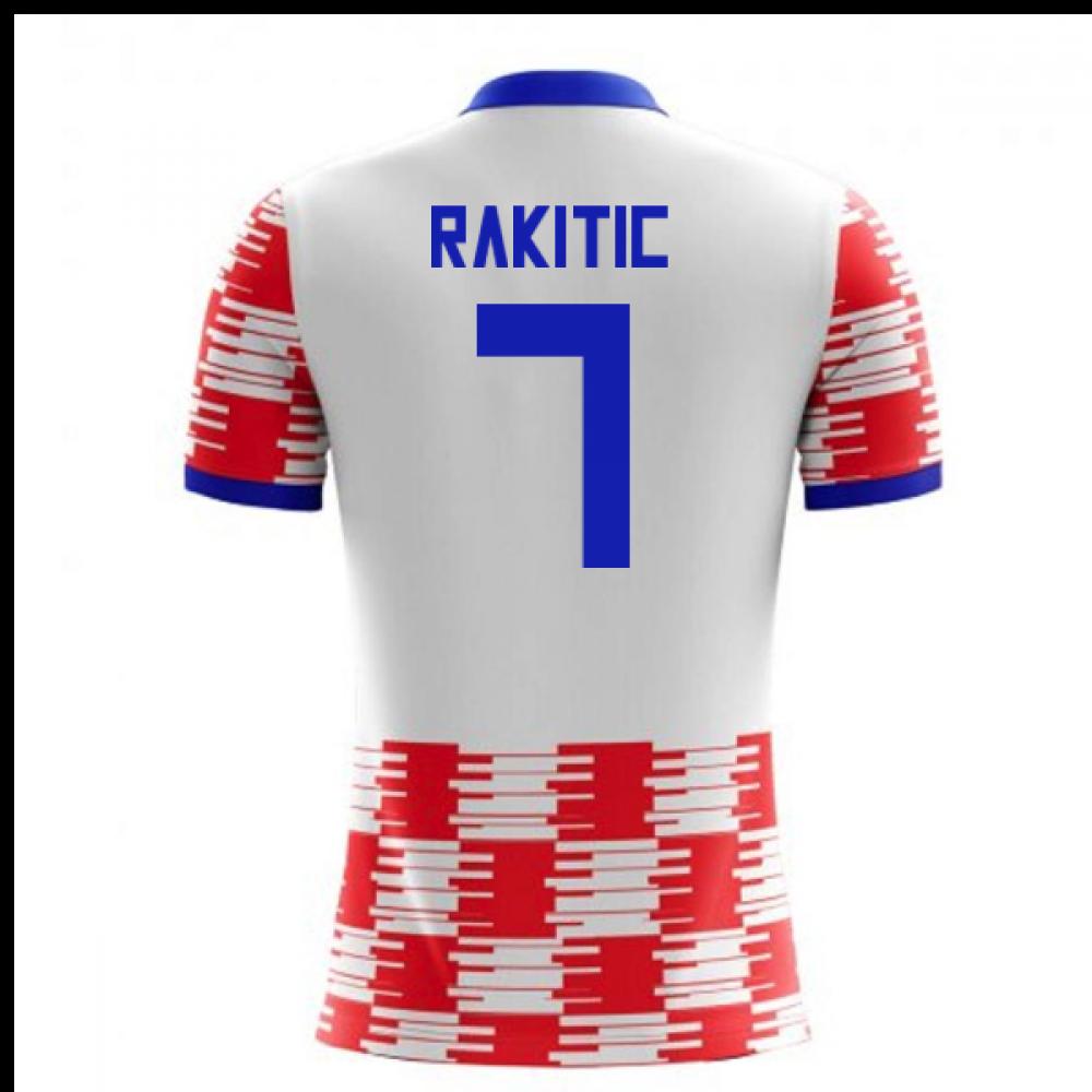 a06c1d499 2018-19 Croatia Home Concept Shirt (Rakitic 7)  CROATIAH-118384 ...