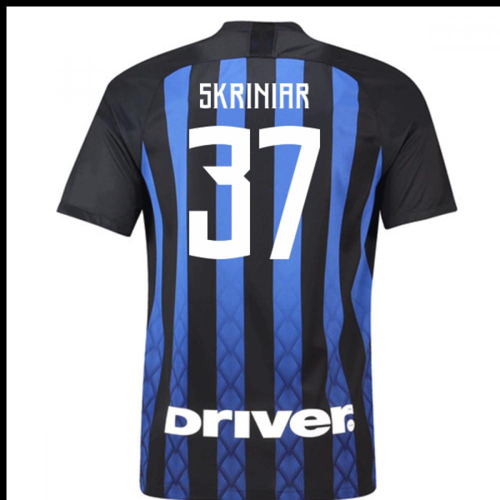 buy popular b5421 5264a 2018-19 Inter Milan Home Football Shirt (Skriniar 37)