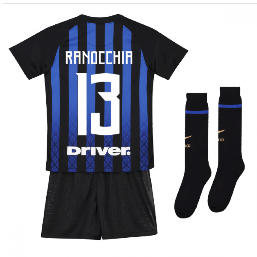 free shipping e7a31 9d5df 2018-19 Inter Milan Home Mini Kit (Ranocchia 13)