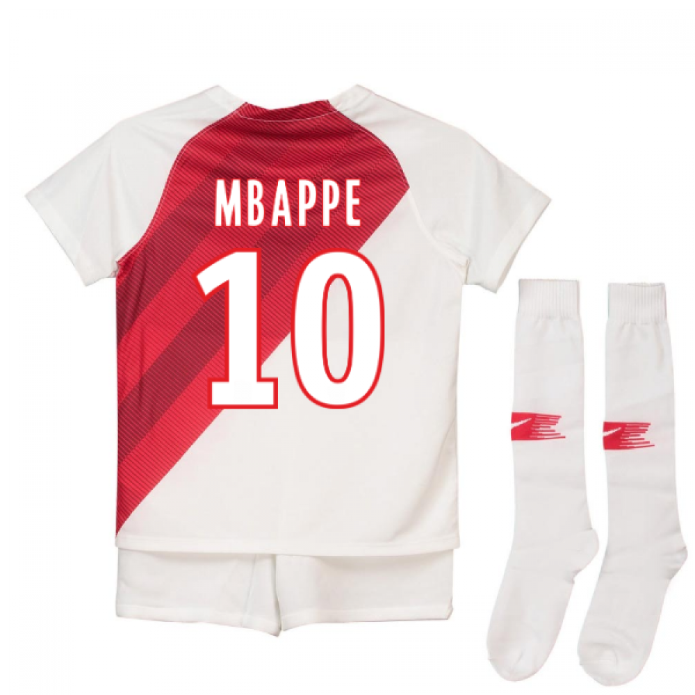 sports shoes 87fb7 7c67e 2018-19 Monaco Home Shirt (Mbappe 10)