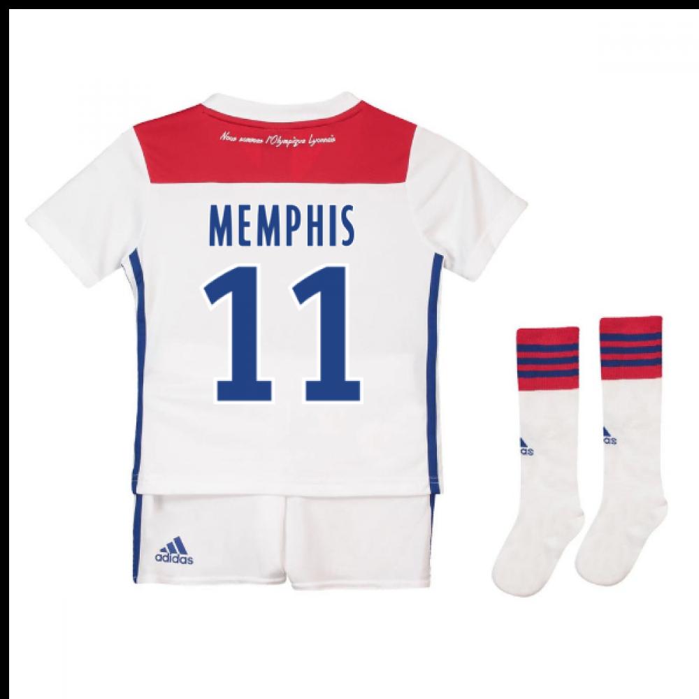6a7efdd65c0 2018-19 Olympique Lyon Home Mini Kit (Memphis 11)  CF9154-116660 ...