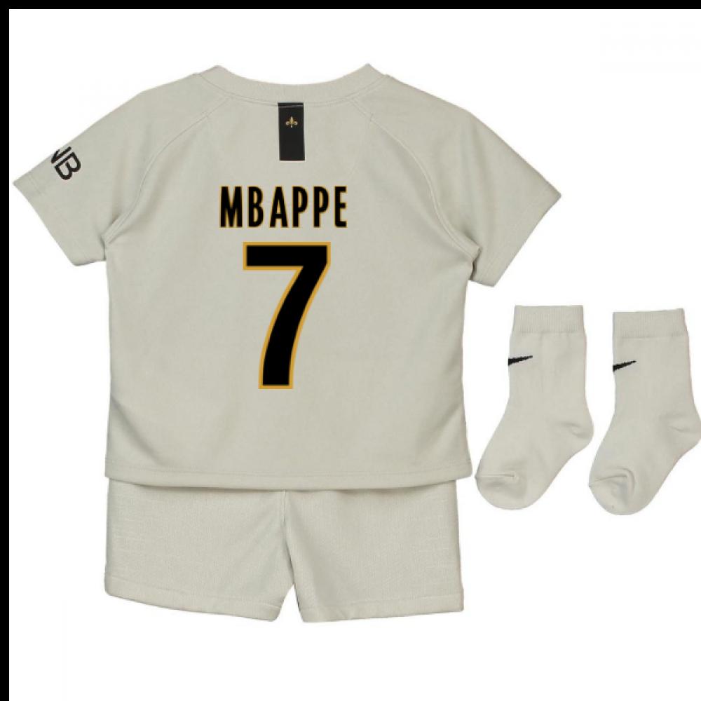 best website 01052 711ea 2018-19 Psg Away Baby Kit (Mbappe 7)