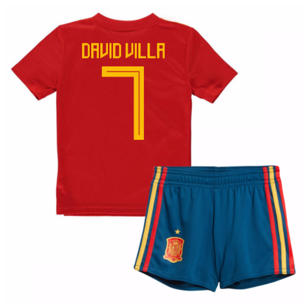216aa4a7a 2018-19 Spain Home Baby Kit (David Villa 7)  BR2705-104414  -  65.49 ...