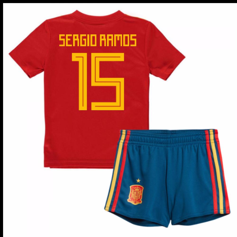 competitive price ed2d8 0b2ac 2018-19 Spain Home Mini Kit (Sergio Ramos 15)