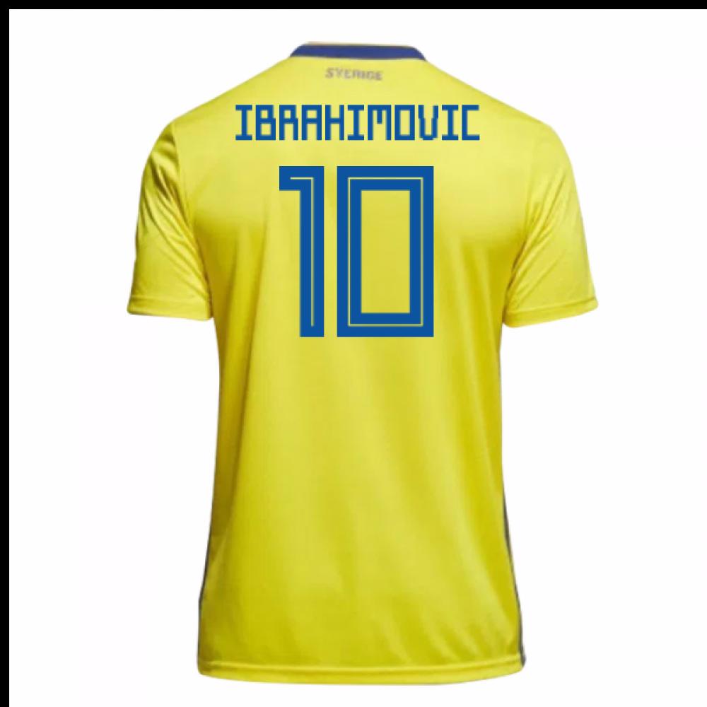 d3ed4bf42 2018-19 Sweden Home Shirt (Ibrahimovic 10) - Kids  BR3830-104192 ...