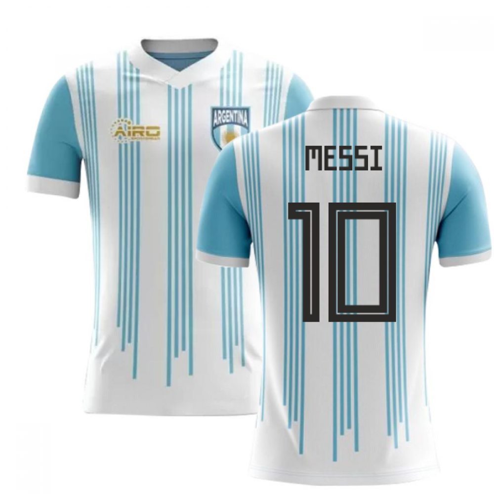 2857e9387 2018-2019 Argentina Home Concept Football Shirt (Messi 10) - Kids ...