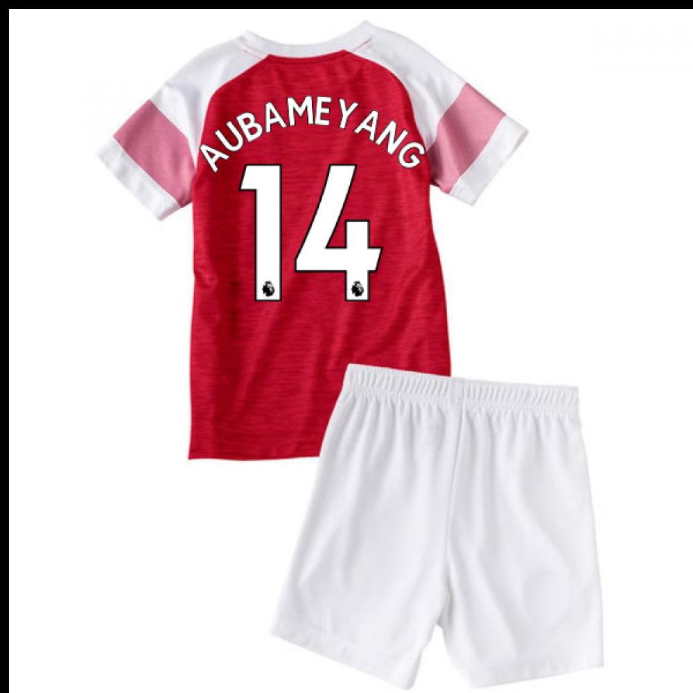 35b8e9fb593 2018-2019 Arsenal Home Little Boys Mini Kit (Aubameyang 14 ...
