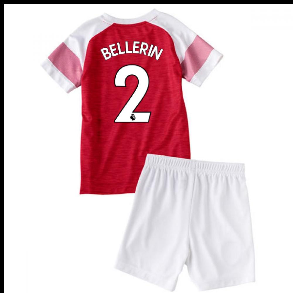 2018-2019 Arsenal Home Little Boys Mini Kit (Bellerin 2