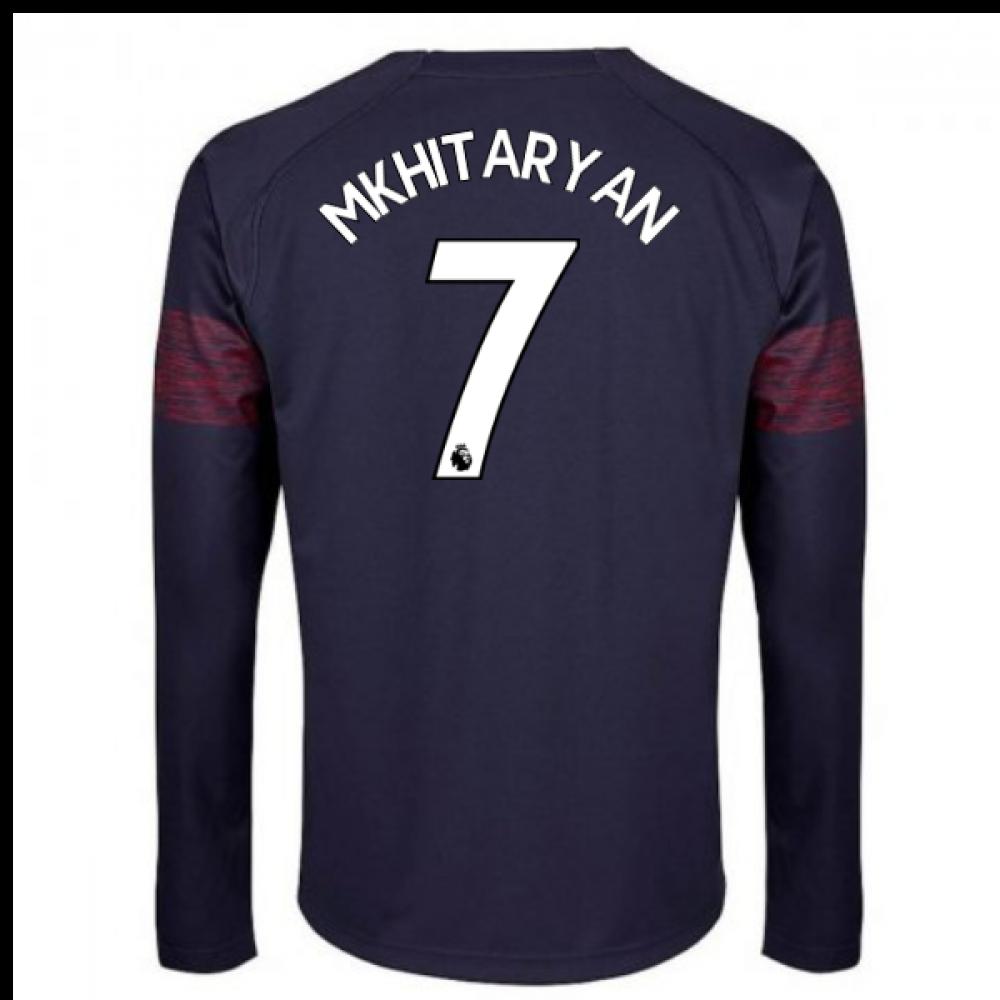 2018-2019 Arsenal Puma Away Long Sleeve Shirt (Mkhitaryan 7) - Kids ... 8e7d665c8