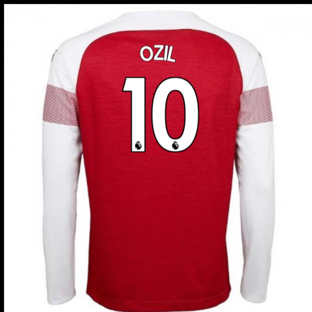 size 40 858ff ce245 2018-2019 Arsenal Puma Home Long Sleeve Shirt (Ozil 10) - Kids