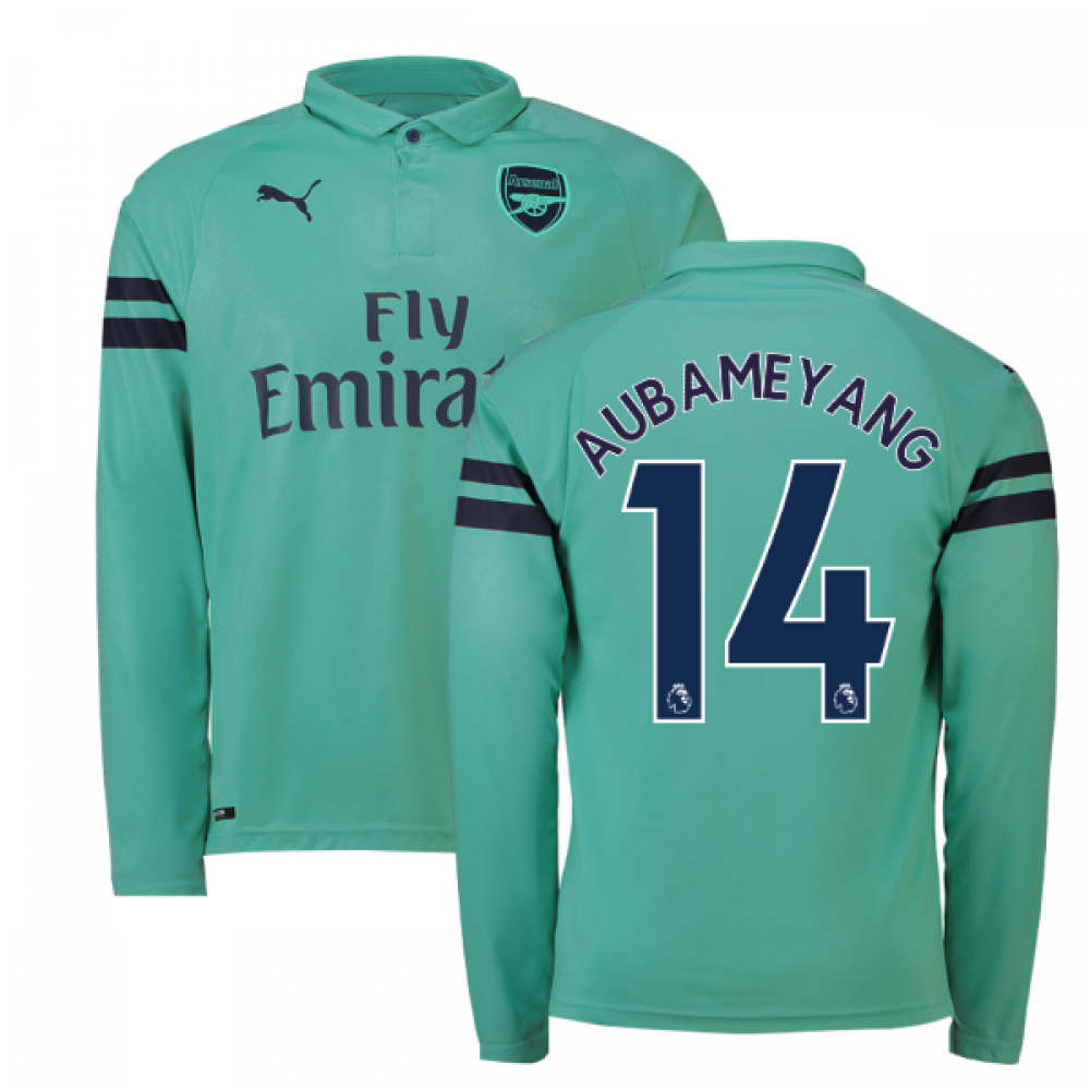 9f57b300844 2018-2019 Arsenal Puma Third Long Sleeve Shirt (Aubameyang 14 ...