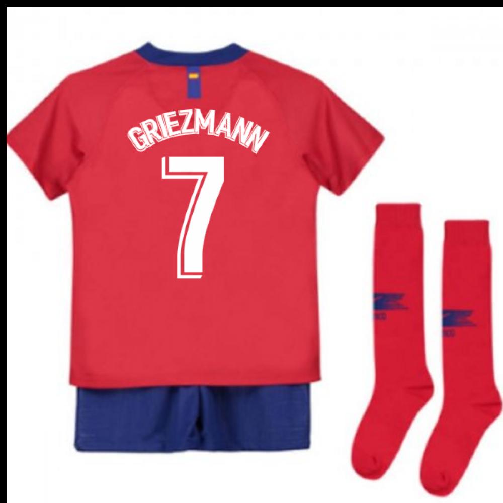 more photos 3b69d b0434 2018-2019 Atletico Madrid Home Nike Little Boys Mini Kit (Griezmann 7)