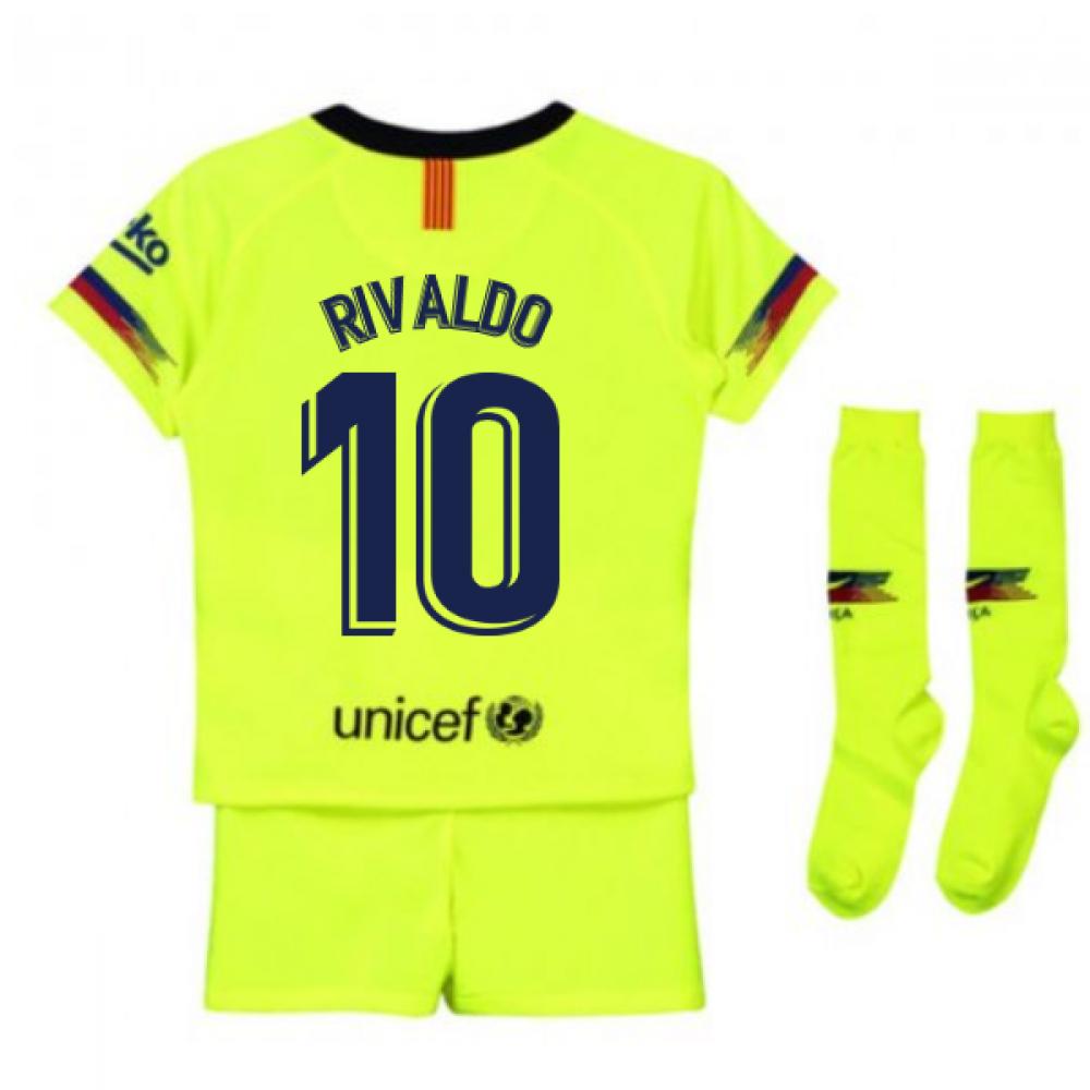 quality design 38666 4266a 2018-2019 Barcelona Away Nike Little Boys Mini Kit (Rivaldo 10)