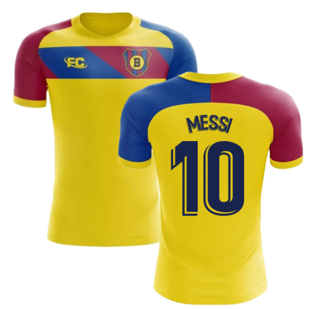 best service cd0fc ad6ff 2018-2019 Barcelona Fans Culture Away Concept Shirt (Messi 10)