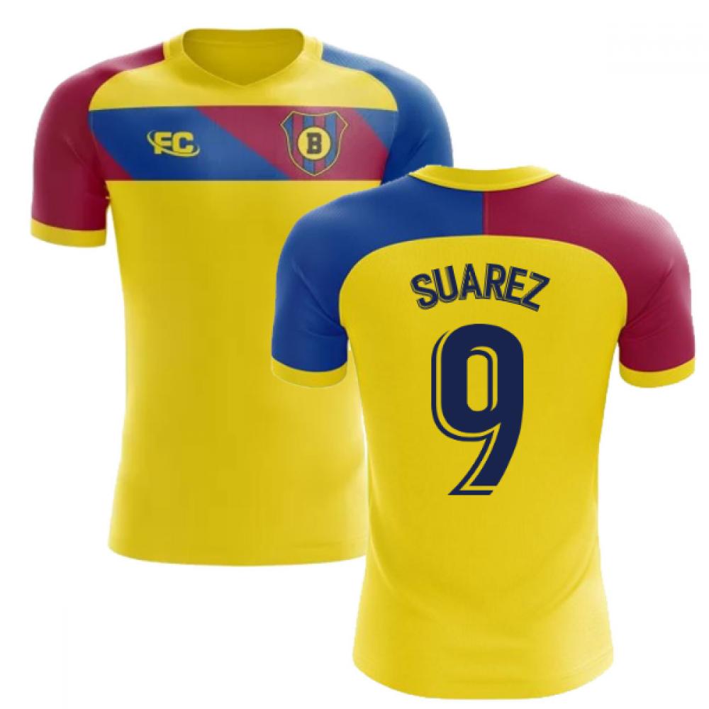 uk availability 7277c 901ef 2018-2019 Barcelona Fans Culture Away Concept Shirt (Suarez 9)