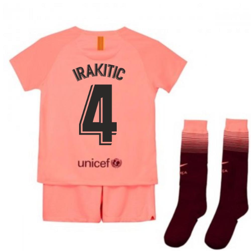 efd765361a6 2018-2019 Barcelona Third Nike Little Boys Mini Kit (I.Rakitic 4 ...
