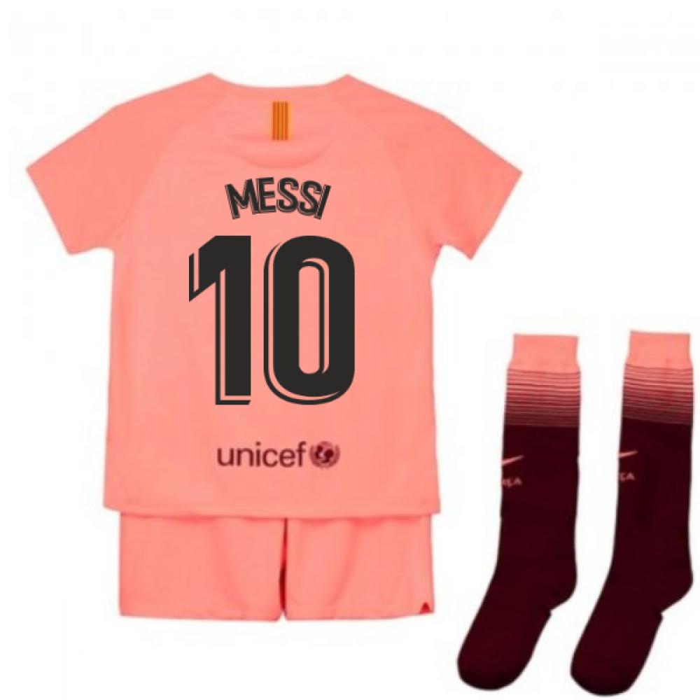 brand new b3f65 e8701 2018-2019 Barcelona Third Nike Little Boys Mini Kit (Messi 10)