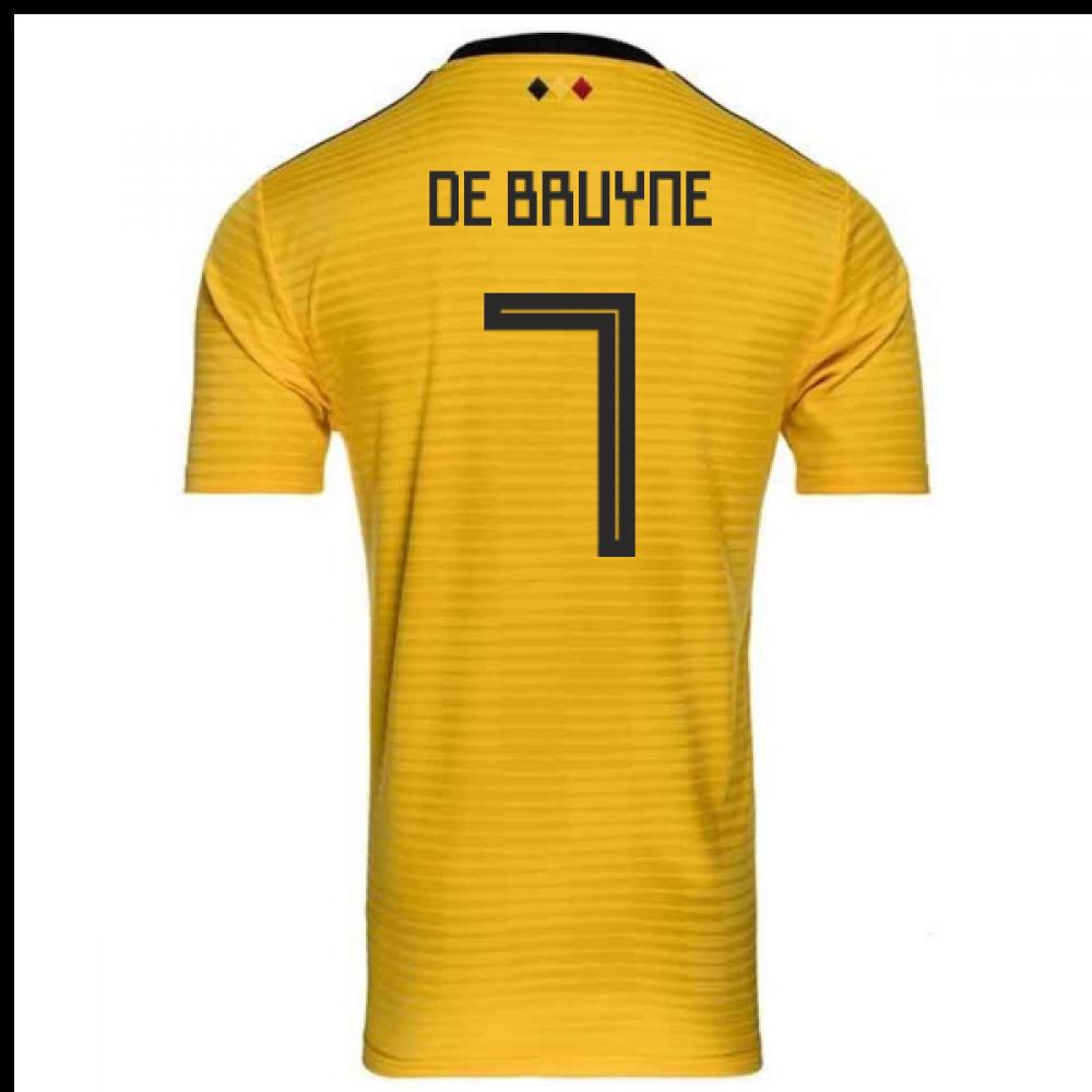 new arrival e4387 8d529 2018-2019 Belgium Away Adidas Football Shirt (De Bruyne 7) - Kids