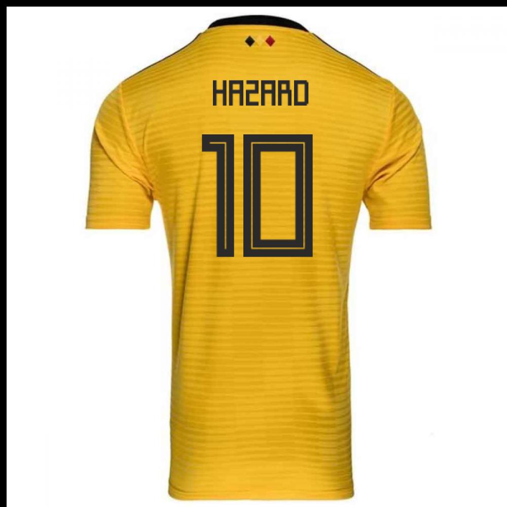 979d7da85 2018-2019 Belgium Away Adidas Football Shirt (Hazard 10) - Kids ...