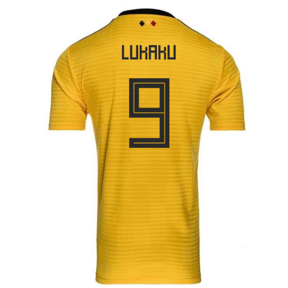online store def05 1f9f1 2018-2019 Belgium Away Adidas Football Shirt (Lukaku 9) - Kids