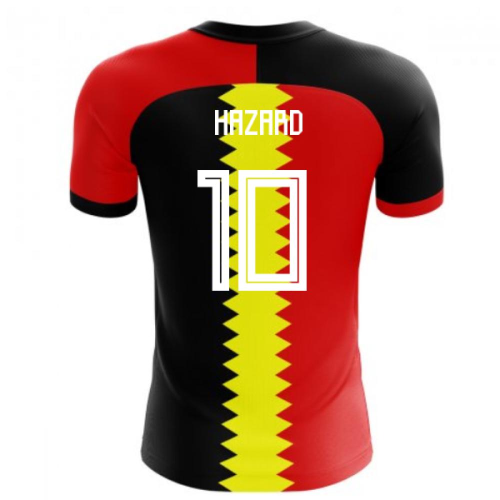 2018-2019 Belgium Flag Concept Football Shirt (Hazard 10