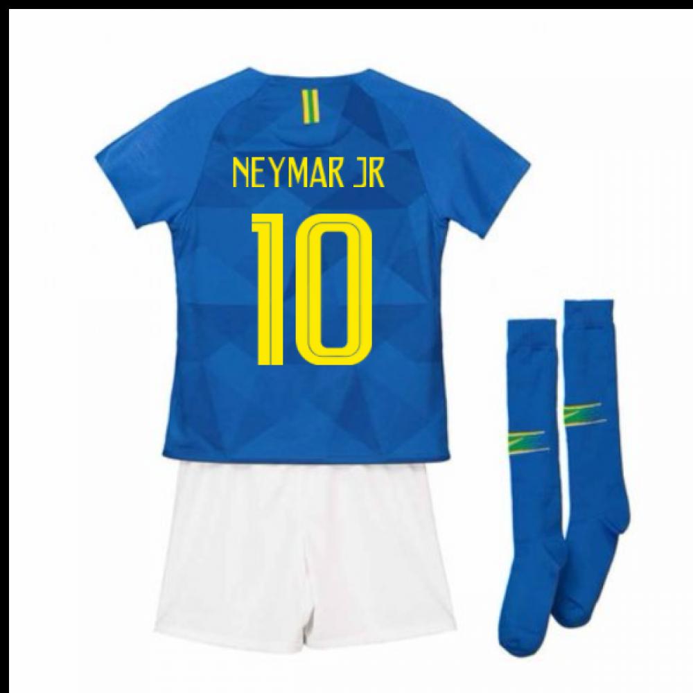 new product 056ad f6d70 2018-2019 Brazil Away Nike Little Boys Mini Kit (Neymar Jr 10)