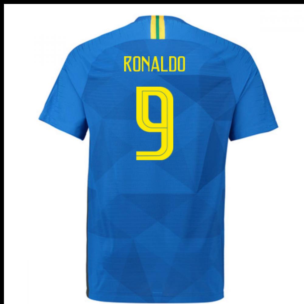 the latest 689ab d8582 2018-2019 Brazil Away Nike Vapor Match Shirt (Ronaldo 9)