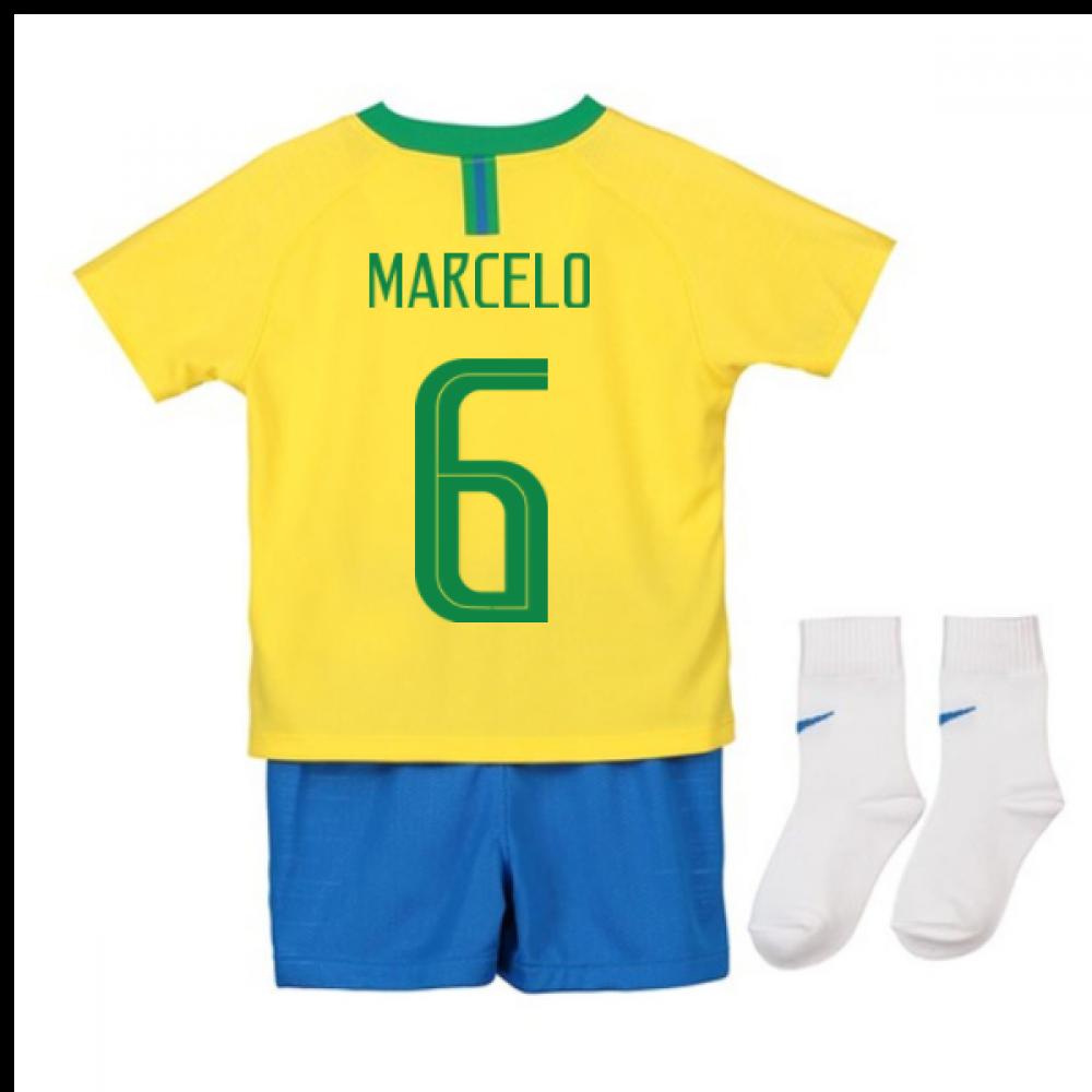 4b56c5df16d 2018-2019 Brazil Home Nike Baby Kit (Marcelo 6) [894052-749-108947] -  $69.96 Teamzo.com