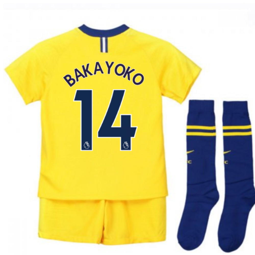 new arrival 6f858 8e083 2018-2019 Chelsea Away Nike Little Boys Mini Kit (Bakayoko 14)