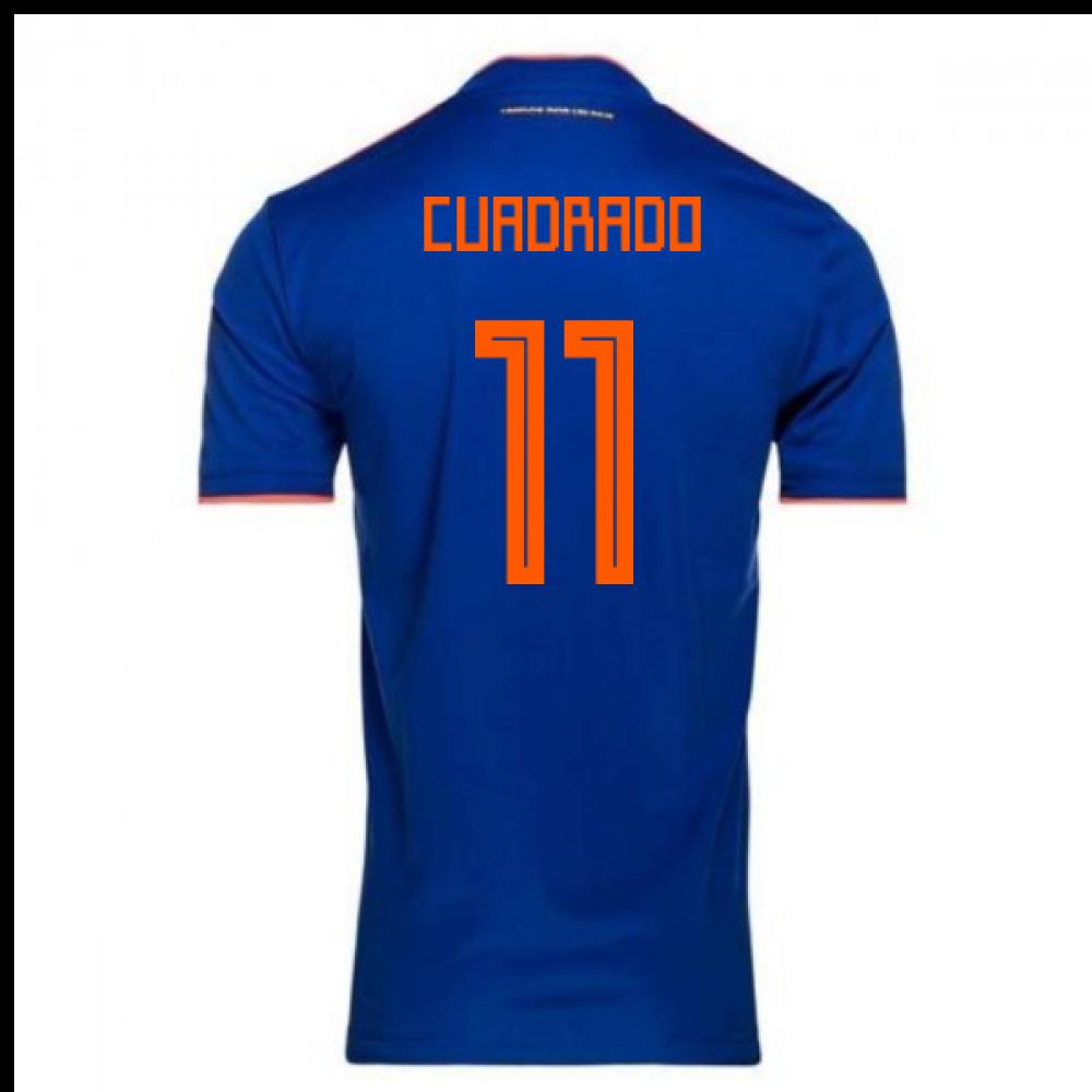 the best attitude 617cc 4e658 2018-2019 Colombia Away Adidas Football Shirt (Cuadrado 11)