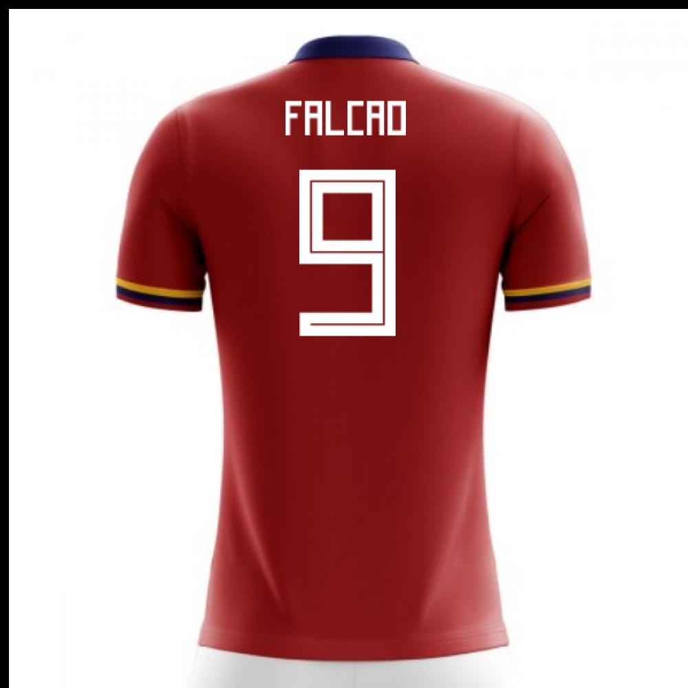43e9b9144c3 2018-2019 Colombia Away Concept Football Shirt (Falcao 9) - Kids ...