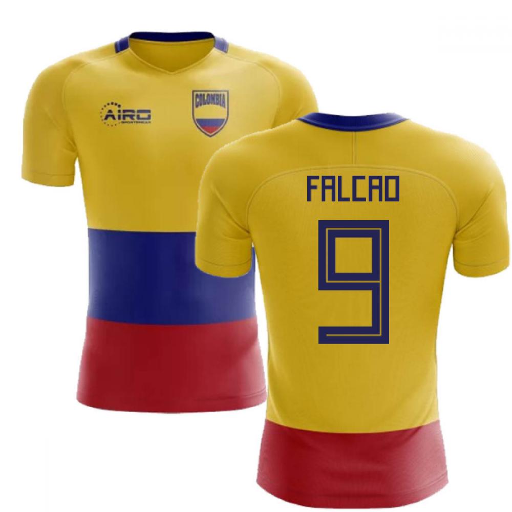638697242 2018-2019 Colombia Flag Concept Football Shirt (Falcao 9 ...