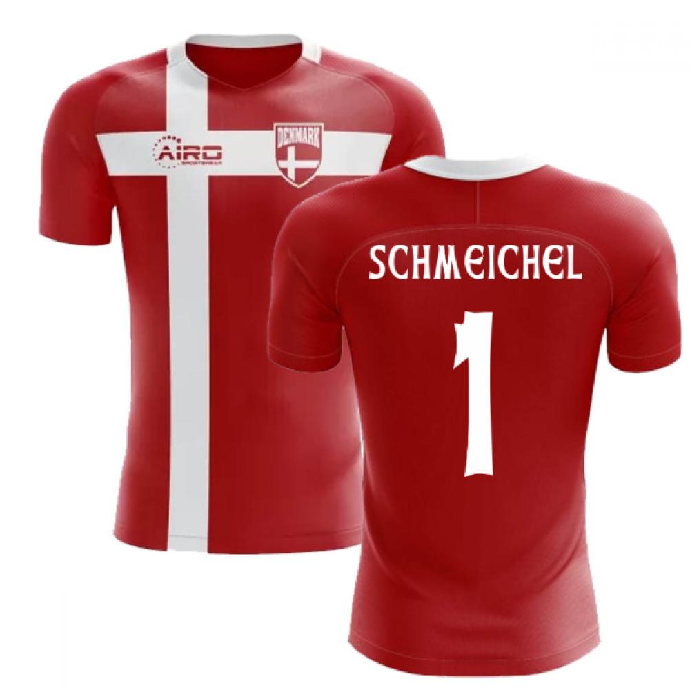 2018-2019 Denmark Flag Concept Football Shirt (Schmeichel 1) - Kids ... cef29c0d6